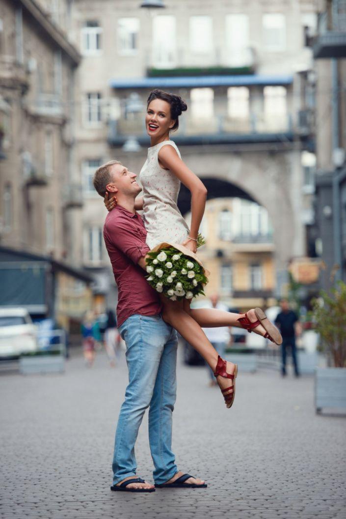 Love story фотосессия, на природе, прогулка по Киеву, Пассаж
