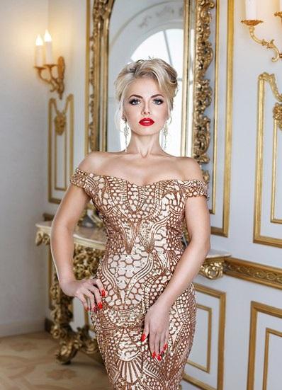 Аренда платьев Diva, платье Evening golden dress