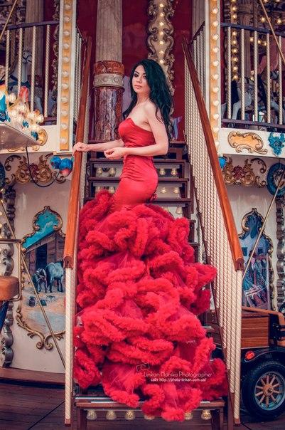 Аренда платьев Diva, платье wine dress