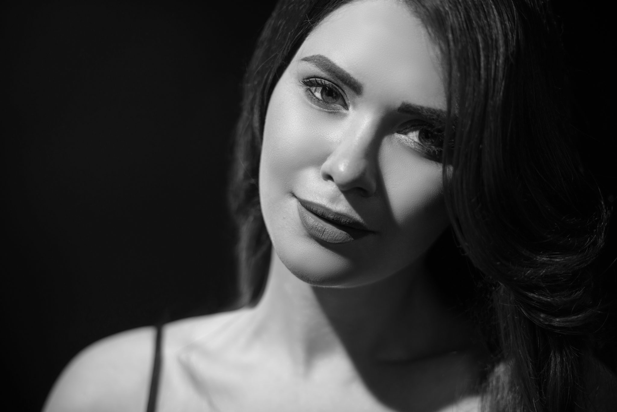 Фотосессия в стиле аркур (Harcourt), фотограф Постникова, модель Олашина