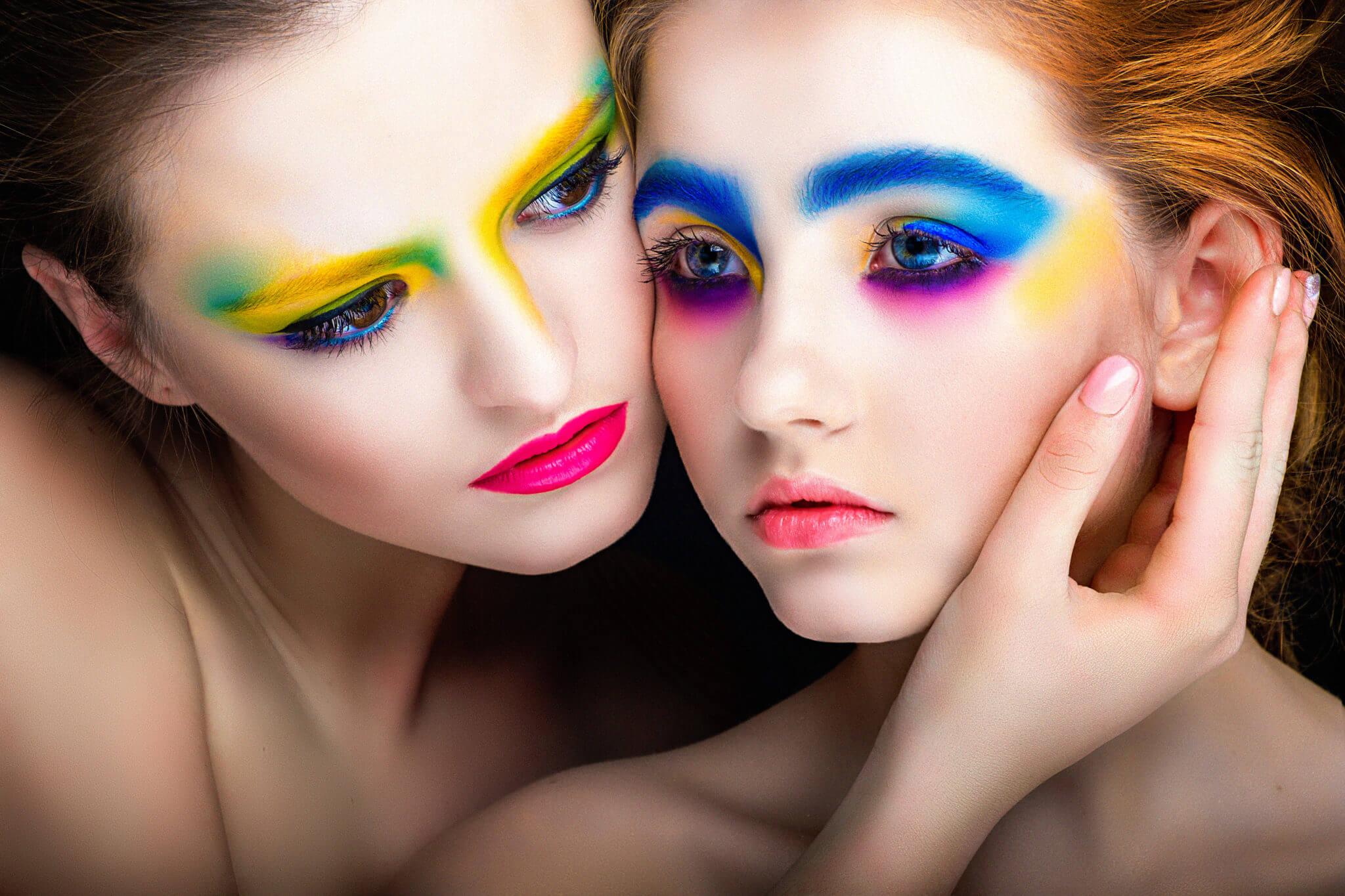 Фотосессия с визажем, креативный визаж, мейк Сары, ph Постникова, модельное агентство Иванкаинтернешенал