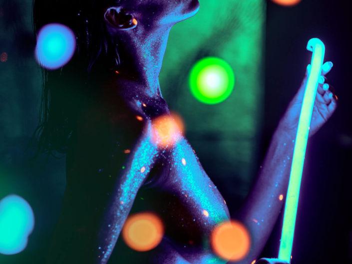 Боди арт, боди-арт, ph Постникова, Body-art Kiselyova, md zlayamashina, блестки, неон