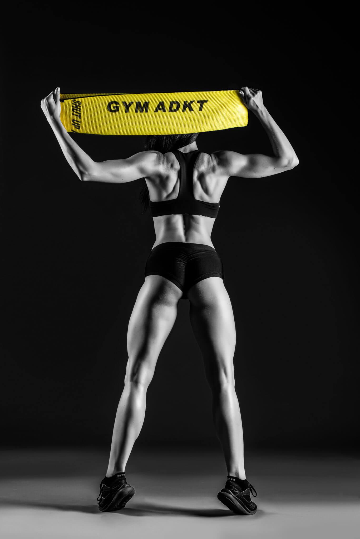 Рекламная съемка для бренда GYM ADKT, ph Постникова, студийная съемка, чб