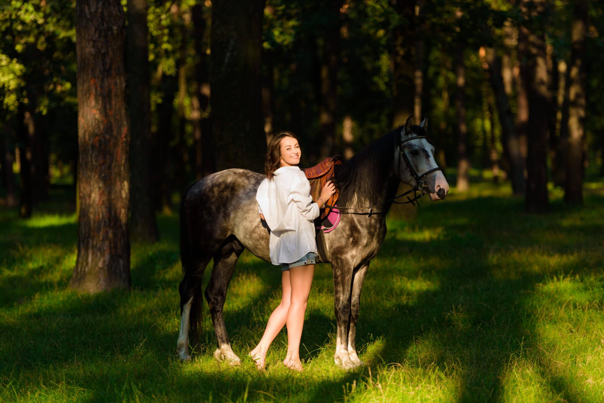 Фотосессия с лошадьми, ph Постникова Алиса, md Марианна Григорашвили, локация Парк Партизанской Славы