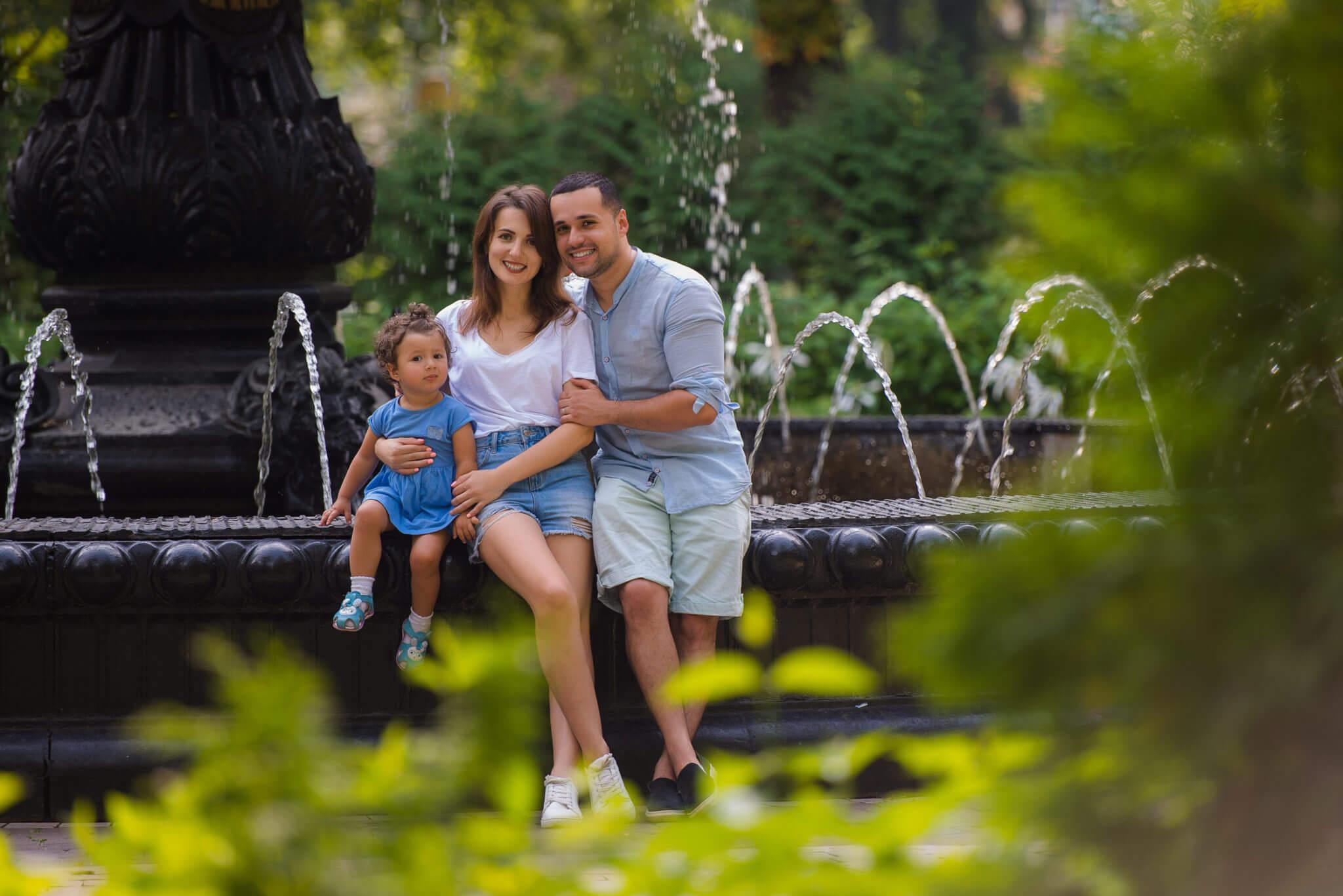 Фотосессия open-air, портфолио, семейная съемка, семья из трех человек