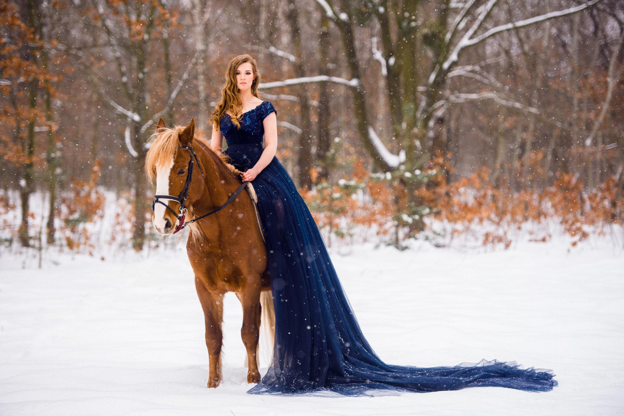 Фотосессия с лошадьми, ph Постникова Алиса, локация Парк Дружбы Народов, зимний лес