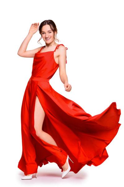 Диана Глостер в Платье DiGlowShop Red Pearl Maxi, фотограф Постникова