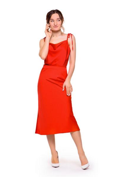 Диана Глостер в Платье DiGlowShop Red Pearl Midi, фотограф Постникова