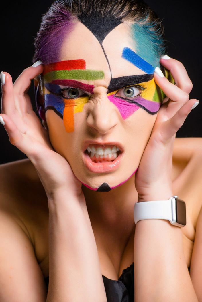 Боди арт, боди-арт, рисунок Сары, ph Постникова, md Андрющенко, рисунок на лице, фейс-арт