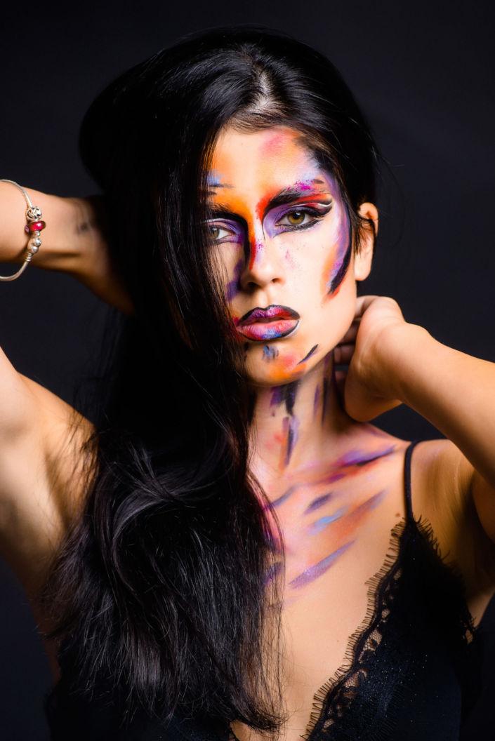 Боди арт, боди-арт, рисунок Сары, рисунок на лице, фейс-арт