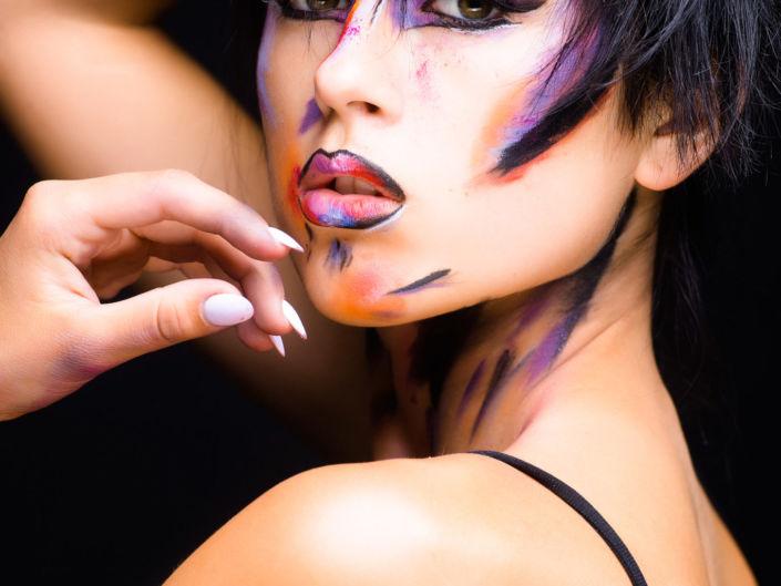 Боди арт, боди-арт, рисунок Сары, рисунок на лице, фейс-арт 1