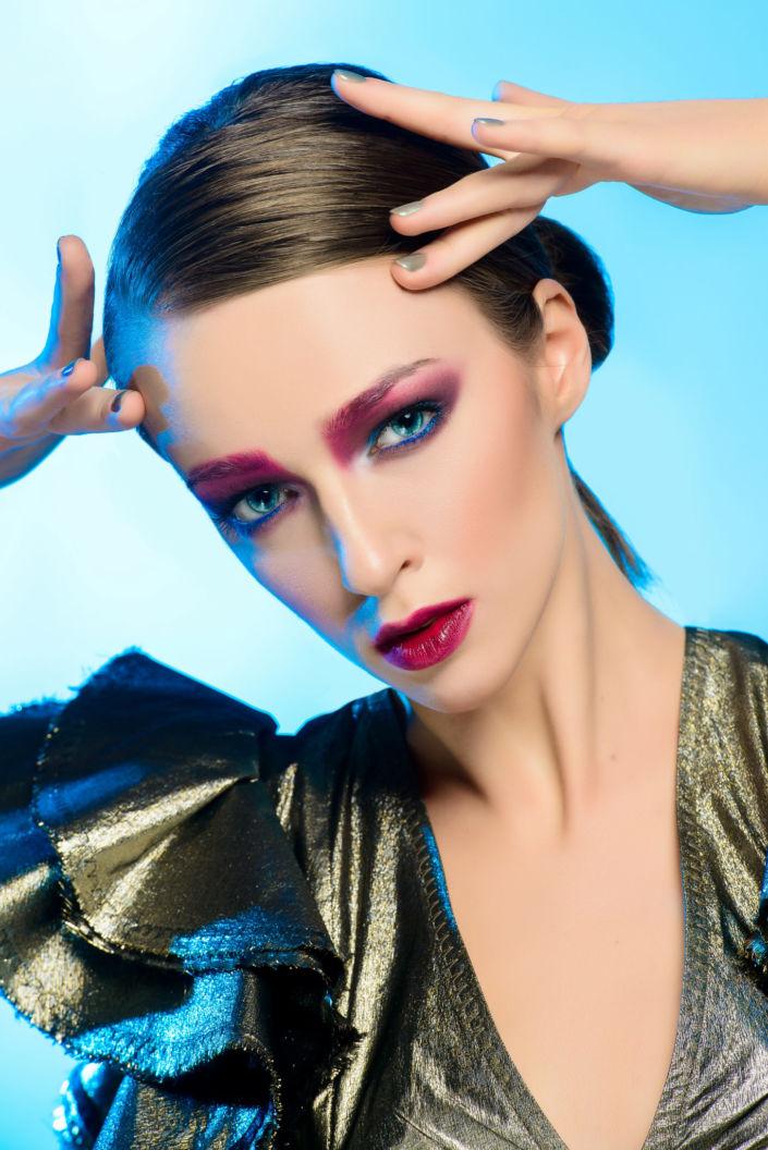 Креативный макияж, визаж киев 02