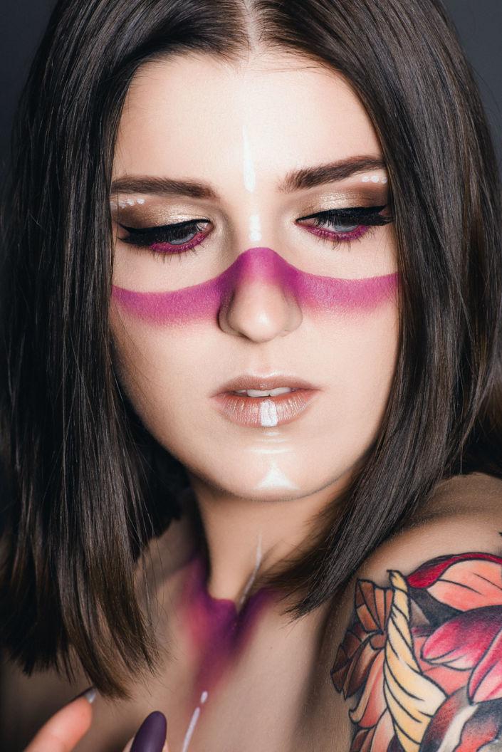 Креативный макияж, визаж киев 07
