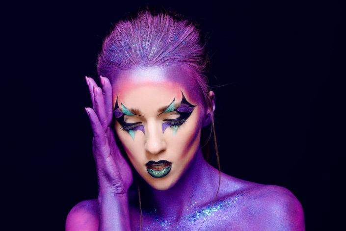 Креативный макияж, визаж киев 14