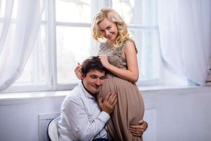 Фотосессия беременных, в студии 42