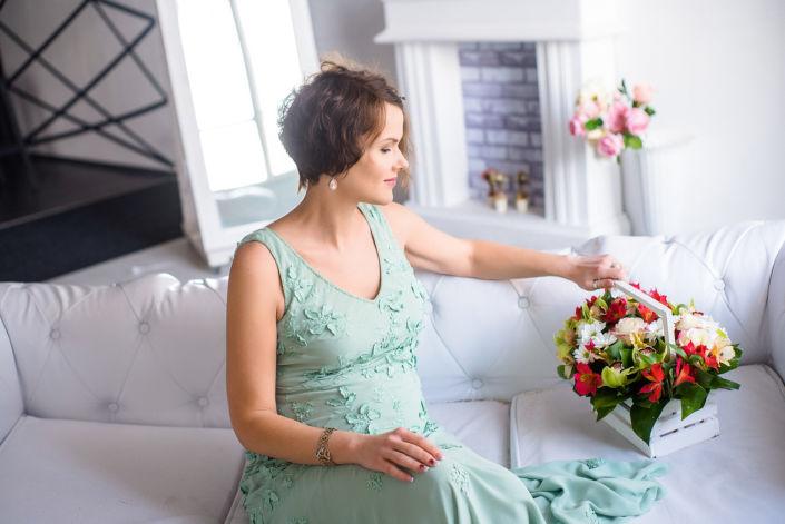 Фотосессия беременных, в студии 44