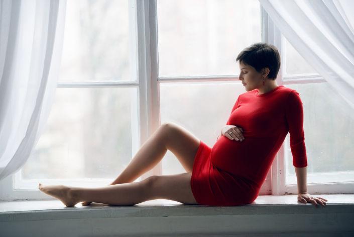 Фотосессия беременных, в студии 49