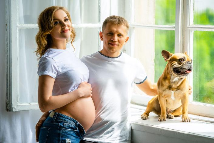 Фотосессия беременных, в студии 56