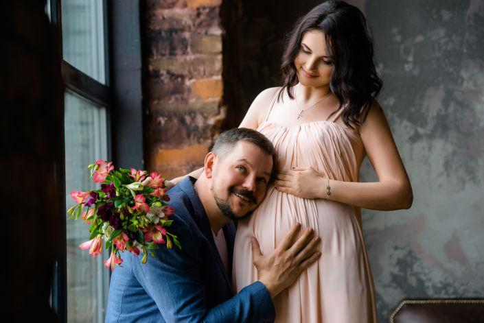 Фотосессия беременных, в студии 62