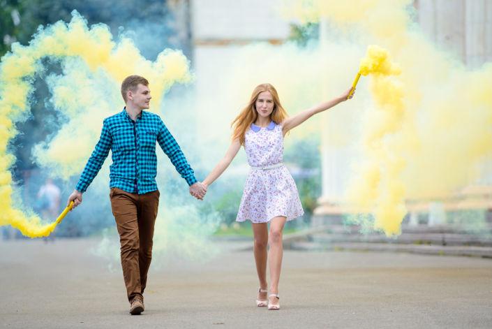 Фотосессия с дымовыми шашками, ph Постникова, md Ольга Котик, ВДНХ