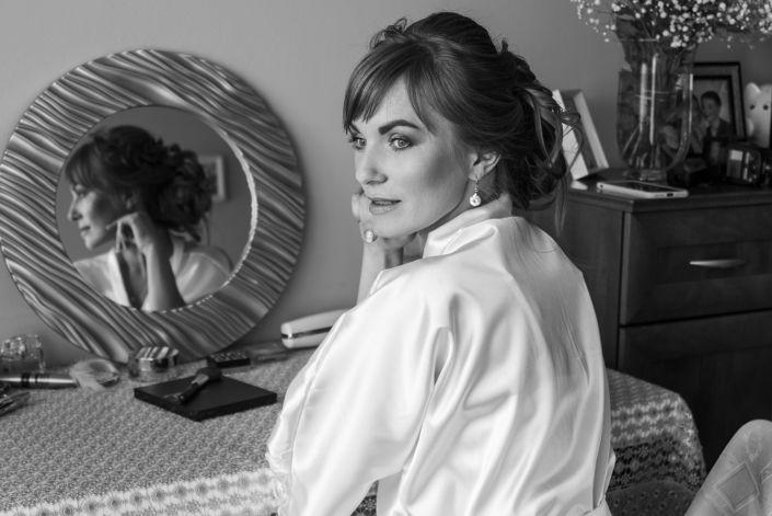 Фотосессия свадьбы, ph Постникова, 2017, Варшава, потрет невесты, утро