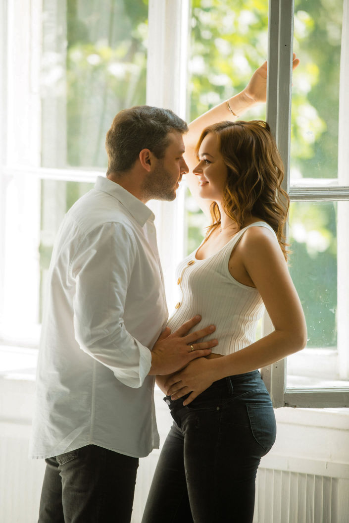 Фотосессия беременных, в студии 80